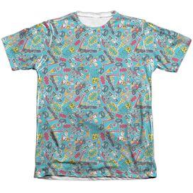 Teen Titans Go Pattern Adult Poly Cotton Short Sleeve Tee T-Shirt