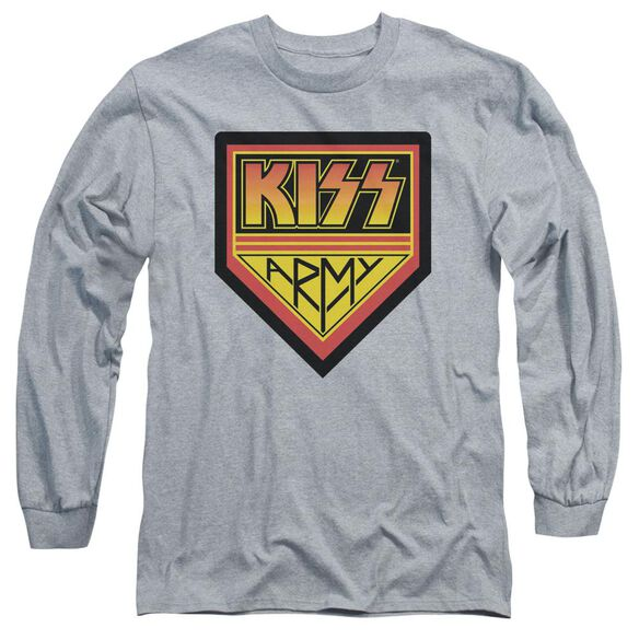 Kiss Army Logo Long Sleeve Adult Athletic T-Shirt