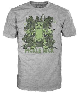 Exclusive Rick and Morty Pickle Rick Funko Pop T-Shirt