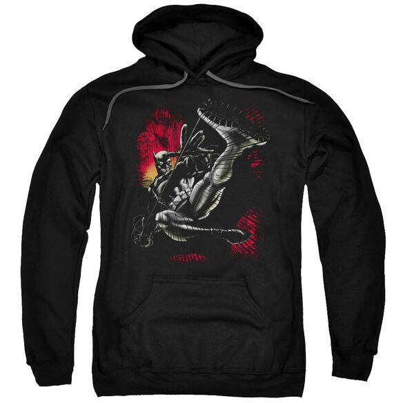 Batman Kick Swing Adult Pull Over Hoodie