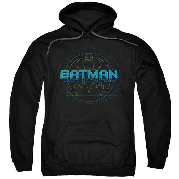 Batman Bat Tech Logo Adult Pull Over Hoodie