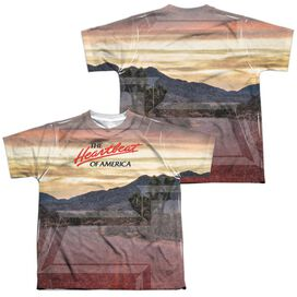 Chevrolet Heartbeat Road (Front Back Print) Short Sleeve Youth Poly Crew T-Shirt