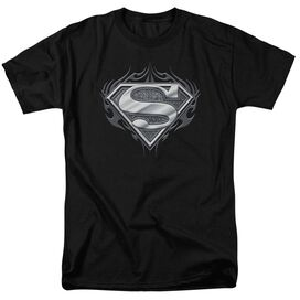 Superman Biker Metal Short Sleeve Adult T-Shirt