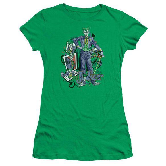 Batman Wild Cards Short Sleeve Junior Sheer Kelly T-Shirt