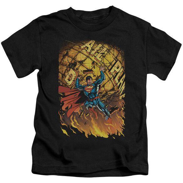 Superman Superman #1 Short Sleeve Juvenile Black T-Shirt