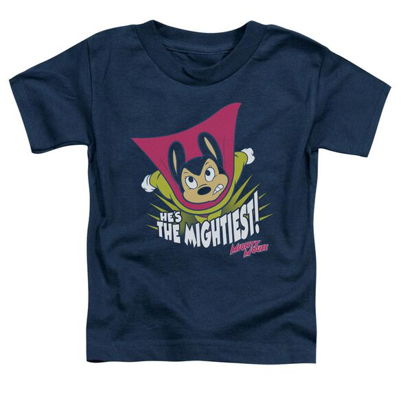 Mighty Mouse The Mightiest Short Sleeve Toddler Tee Navy T-Shirt