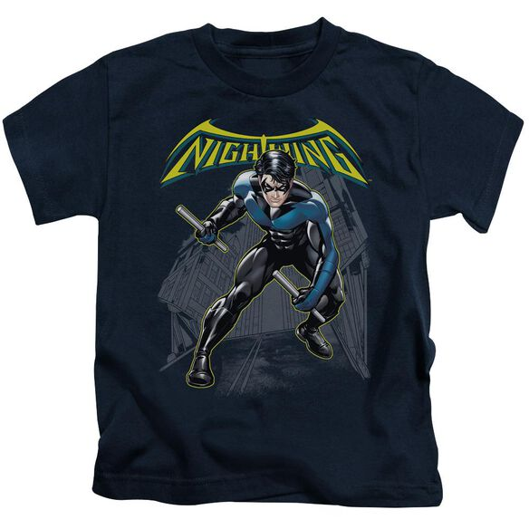 Batman Nightwing Short Sleeve Juvenile Navy T-Shirt