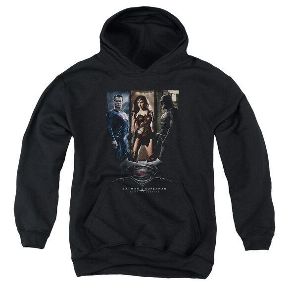 Batman V Superman 3 Phases Youth Pull Over Hoodie
