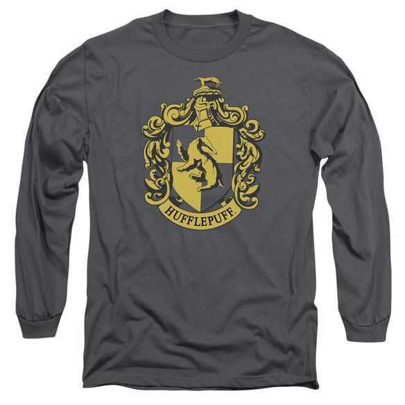 Harry Potter Hufflepuff Crest Long Sleeve Adult T-Shirt