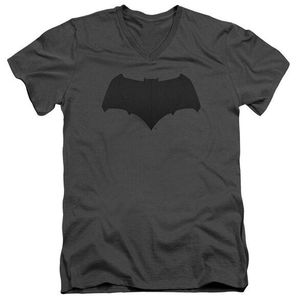 Justice League Movie Batman Logo Short Sleeve Adult V Neck T-Shirt