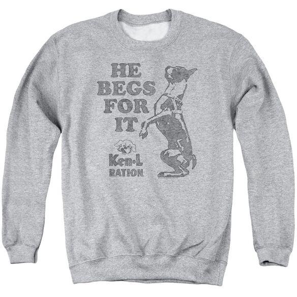 Ken L Ration Begs Adult Crewneck Sweatshirt Athletic