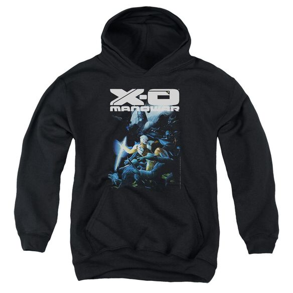 Xo Manowar By The Sword Youth Pull Over Hoodie