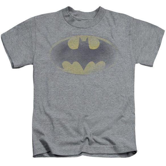Batman Faded Logo Short Sleeve Juvenile Athletic Heather T-Shirt