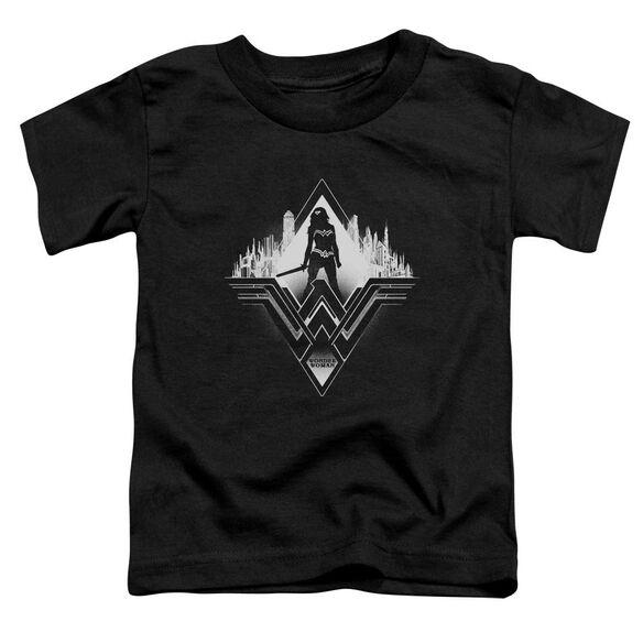 Batman V Superman City Warrior Short Sleeve Toddler Tee Black T-Shirt