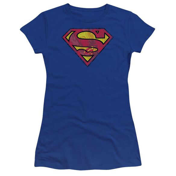 Superman Action Shield Premium Bella Junior Sheer Jersey Royal