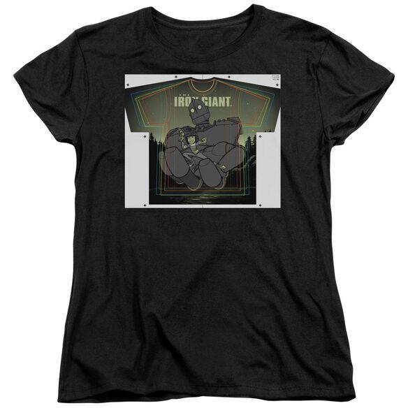 Iron Giant Helping Hand Short Sleeve Womens Tee T-Shirt