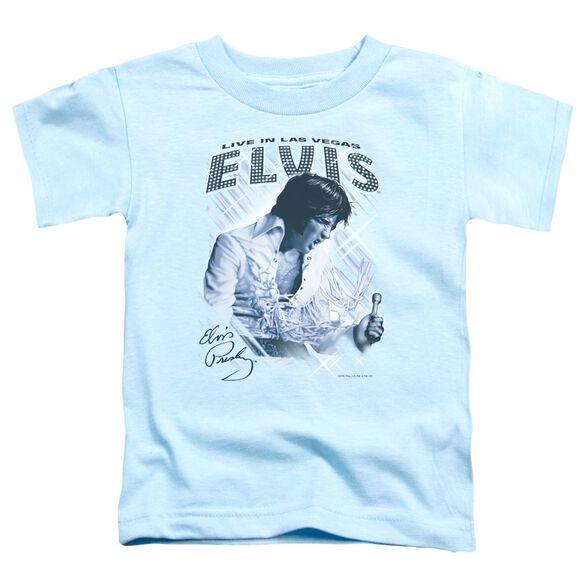 Elvis Blue Vegas Short Sleeve Toddler Tee Carolina Blue Lg T-Shirt