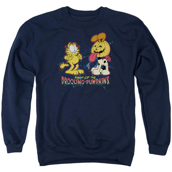 Garfield Drooling Pumpkins Adult Crewneck Sweatshirt