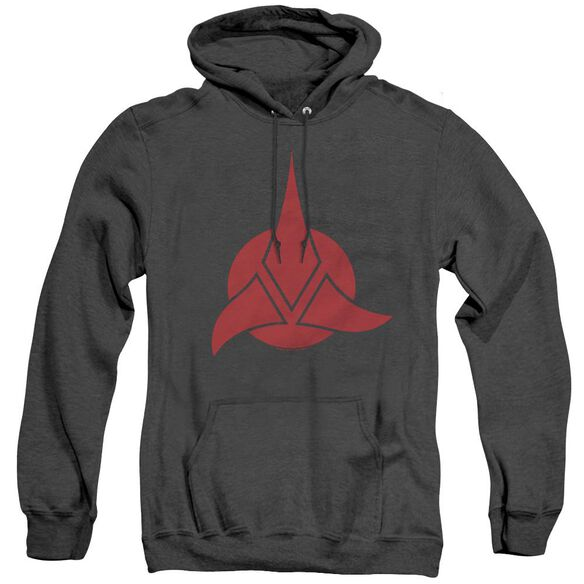 Star Trek Klingon Logo - Adult Heather Hoodie - Black
