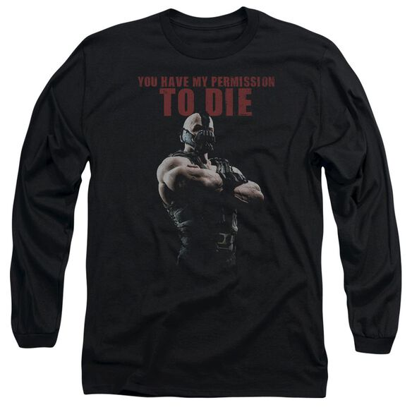 Dark Knight Rises Permission To Die Long Sleeve Adult T-Shirt