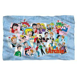 Archie Panels Fleece Blanket
