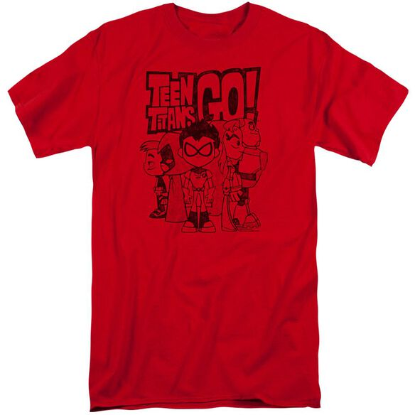 Teen Titans Go Team Up Short Sleeve Adult Tall T-Shirt