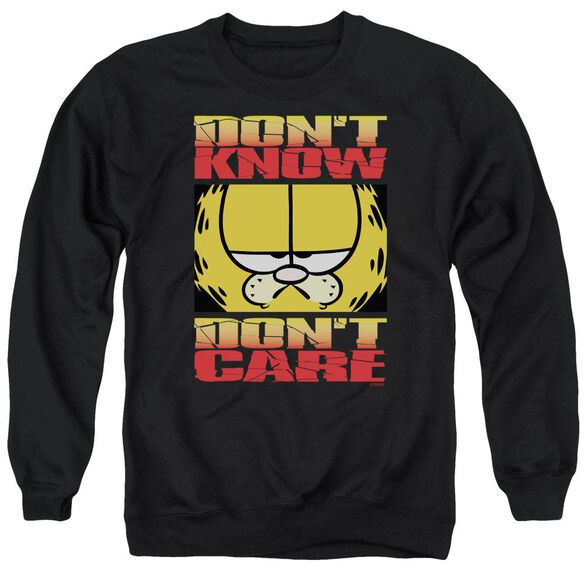 Garfield Don'T Know Don'T Care Adult Crewneck Sweatshirt