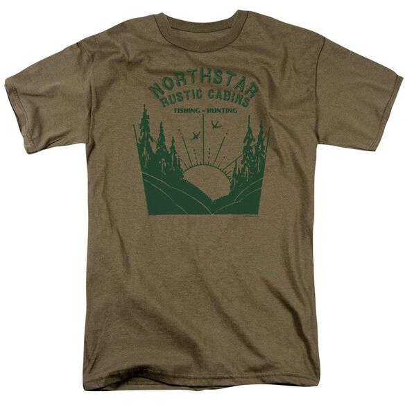 Northstar Rustic Cabins Short Sleeve Adult Safari Green T-Shirt