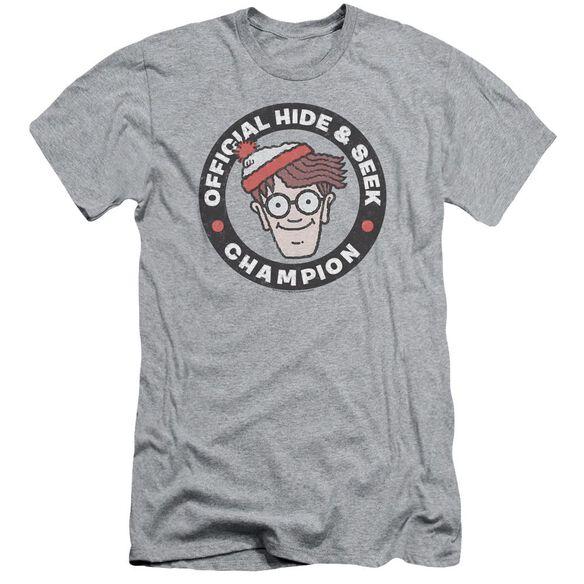 Wheres Waldo Champion Short Sleeve Adult Athletic T-Shirt