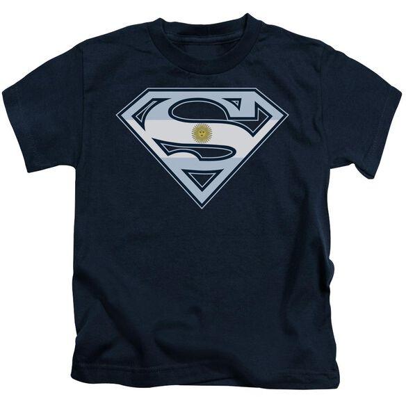 SUPERMAN ARGENTINIAN SHIELD - S/S JUVENILE 18/1 - NAVY - T-Shirt
