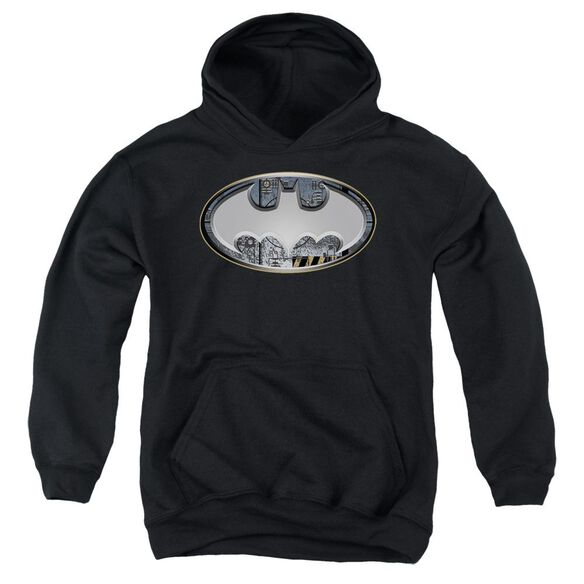 Batman Steel Wall Shield Youth Pull Over Hoodie