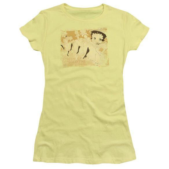 Betty Boop Can Can Short Sleeve Junior Sheer T-Shirt