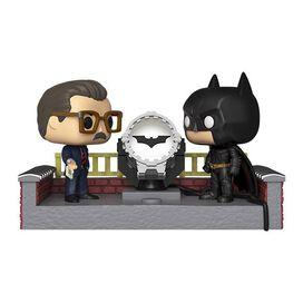 Funko Pop! Movie Moment: Batman 80th - Batman & James Gordon [w/ Light Up Bat Signal]
