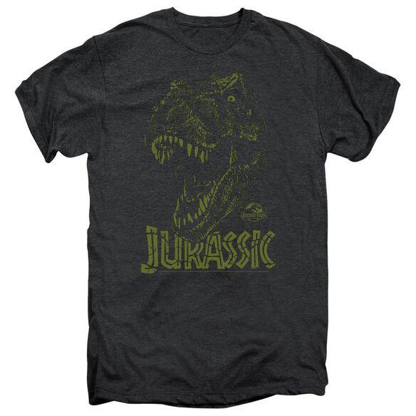 Jurassic Park Rex Mount Short Sleeve Adult Premium Tee Smoke T-Shirt