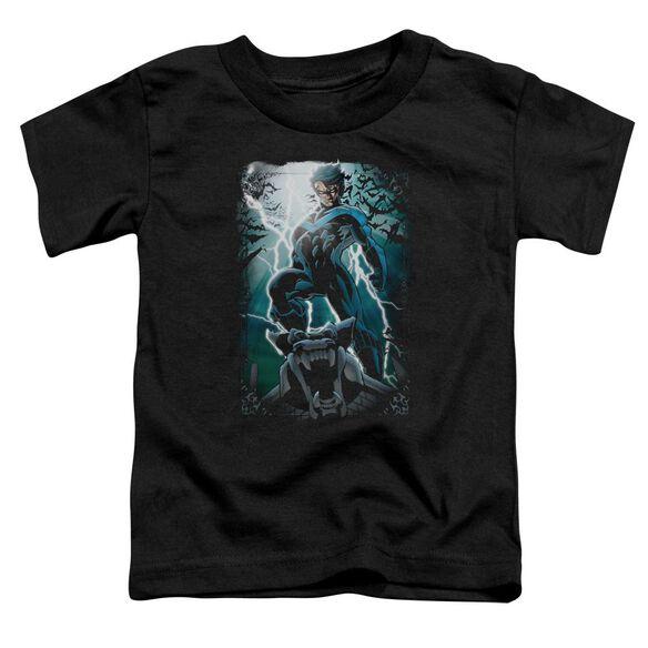 Batman Night Light Short Sleeve Toddler Tee Black T-Shirt