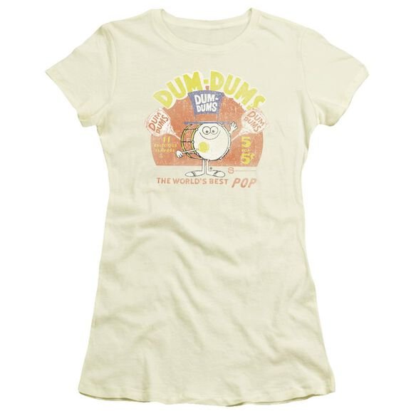 DUM DUMS BEST POP - S/S JUNIOR SHEER - CREAM T-Shirt