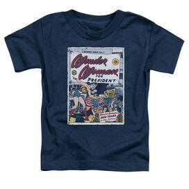 Dc Ww For President Short Sleeve Toddler Tee Navy T-Shirt