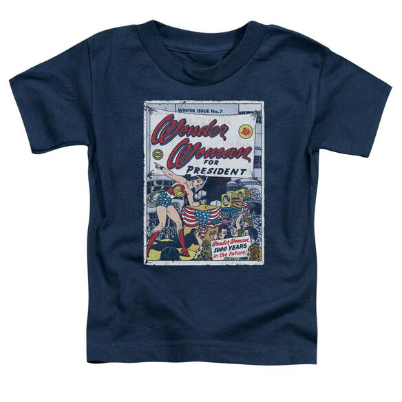 Dc Ww For President Short Sleeve Toddler Tee Navy T-Shirt