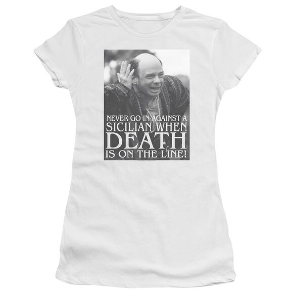 Princess Bride Sicilian Short Sleeve Junior Sheer T-Shirt