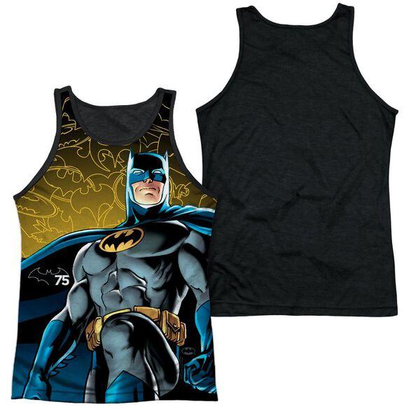 Batman 75 Glow Adult Poly Tank Top Black Back