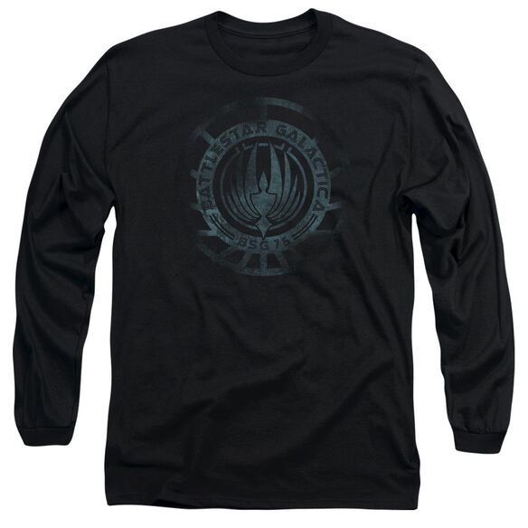 Battlestar Galactica (New) Faded Emblem Long Sleeve Adult T-Shirt