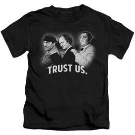 Three Stooges Turst Us Short Sleeve Juvenile T-Shirt