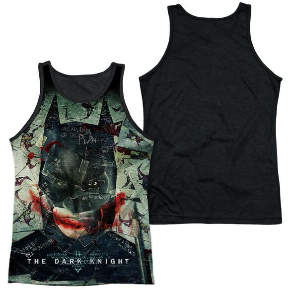 Dark Knight Stacked Hand Adult Poly Tank Top Black Back