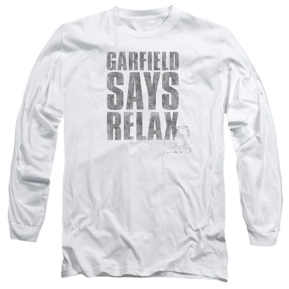 Garfield Relax Long Sleeve Adult T-Shirt