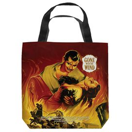 Gone With The Wind Fire Poster Tote