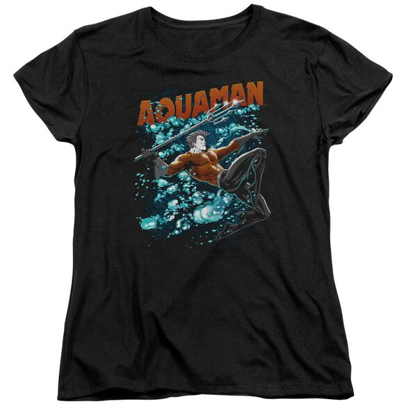 Jla Aqua Bubbles Short Sleeve Womens Tee T-Shirt
