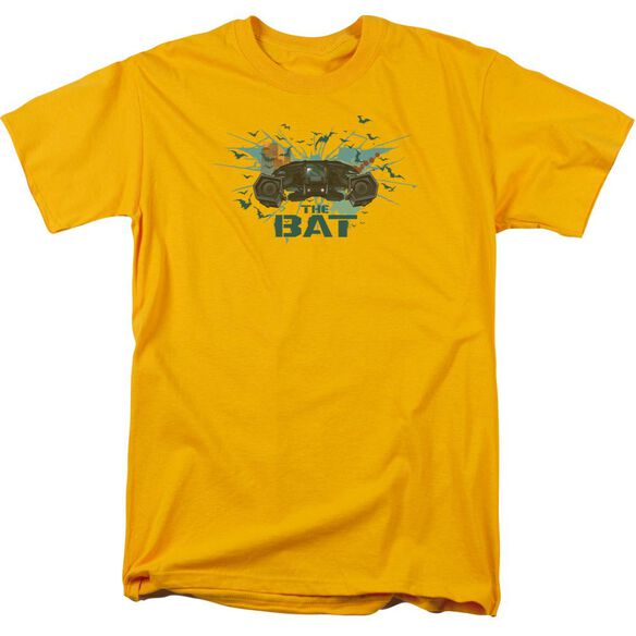 Dark Knight Rises Coming At You Short Sleeve Adult Gold T-Shirt