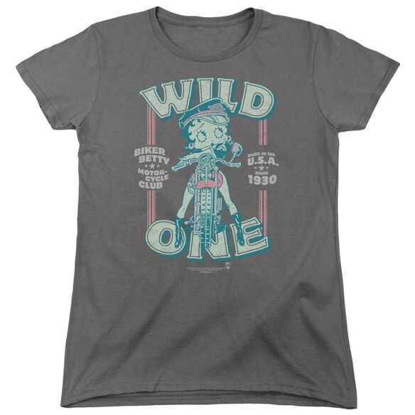 Betty Boop Wild One Short Sleeve Womens Tee T-Shirt