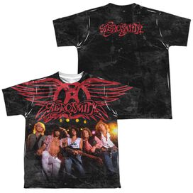 Aerosmith Stage (Front Back Print) Short Sleeve Youth Poly Crew T-Shirt