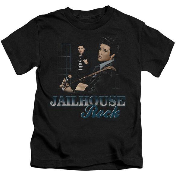 Elvis Jailhouse Rock Short Sleeve Juvenile Black T-Shirt